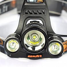 вело На лобный LED Headlight 2000 Lumens Cree XM-L T6 Максимальный световой поток: 8000 люмен 3 режи Кишинёв мун.