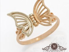 "Золотое кольцо ""Бабочка"". Артикул I-GI001 Бельцы мун."
