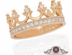 "Золотое кольцо ""Big crown"". Артикул I-0039 Бельцы мун."