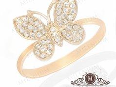 """Золотое кольцо """"Butterfly"""". Артикул I-0089 Бельцы мун."""