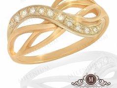 """Золотое кольцо """"Бесконечность"""". Артикул I-0071 Бельцы мун."""